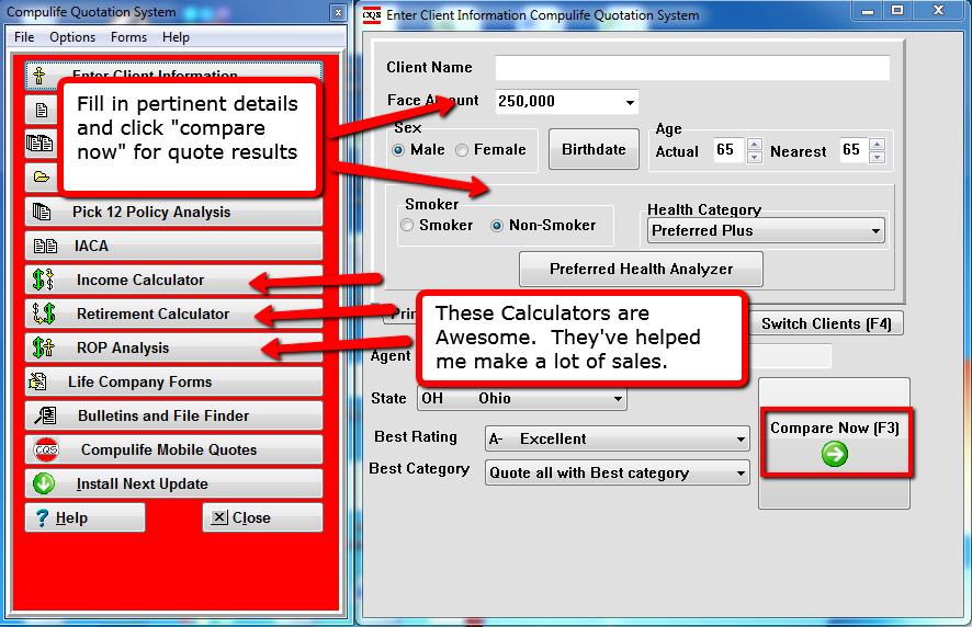 Compulife Desktop Quote Software