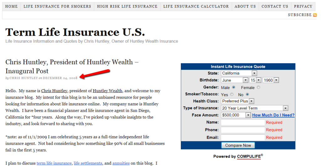 Basic Thesis design for Insuranceblogbychris.com