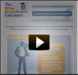 Wise Investment Life Insurance Calculator Video