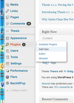 Add a plugin in WordPress