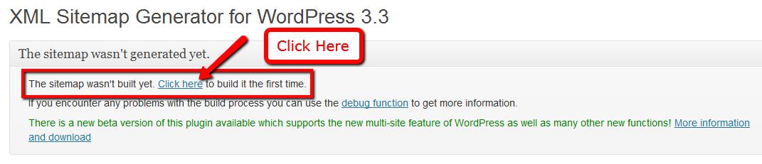 build first sitemap google xml