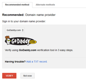 verify site ownership