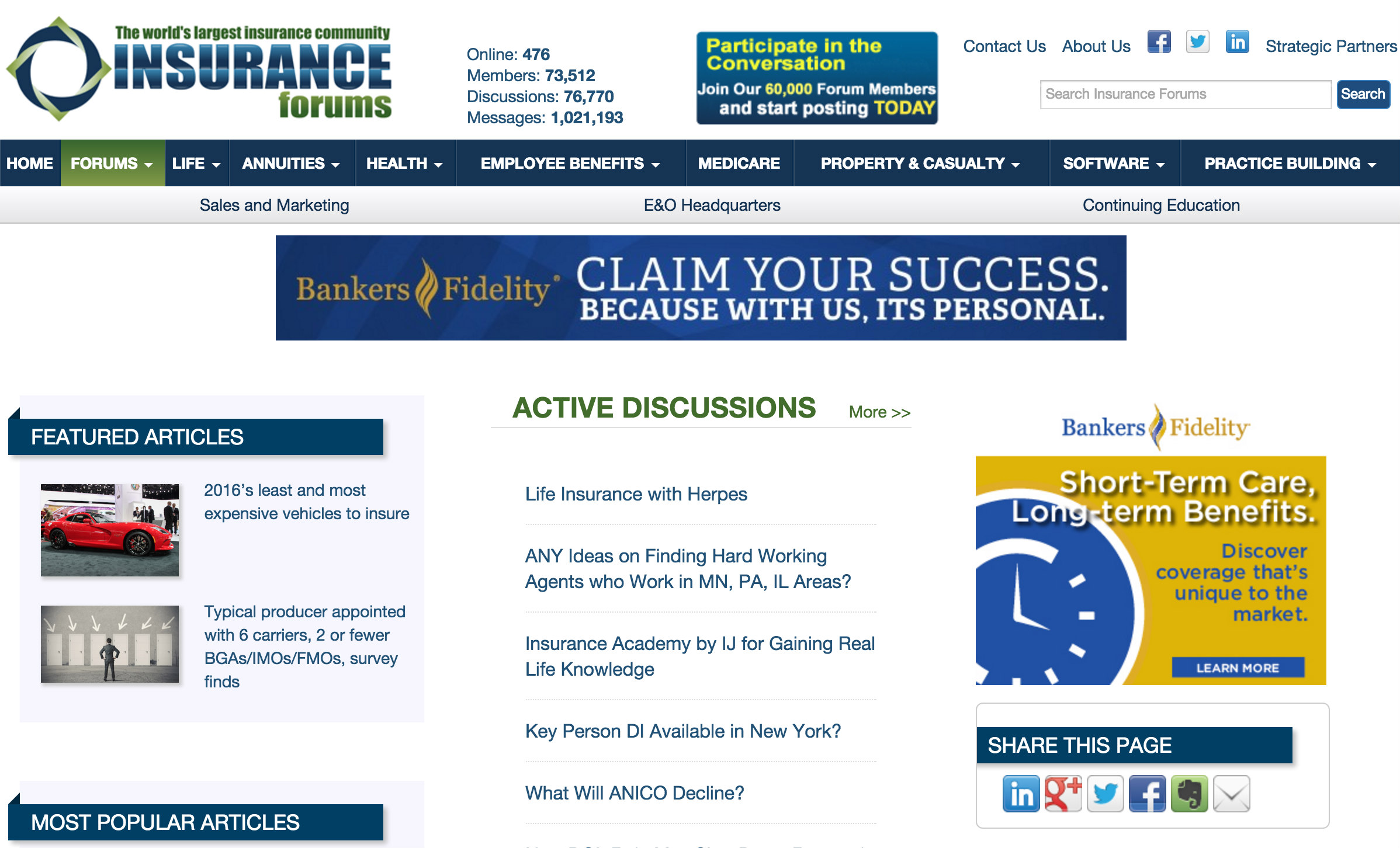 Life Insurance Forums