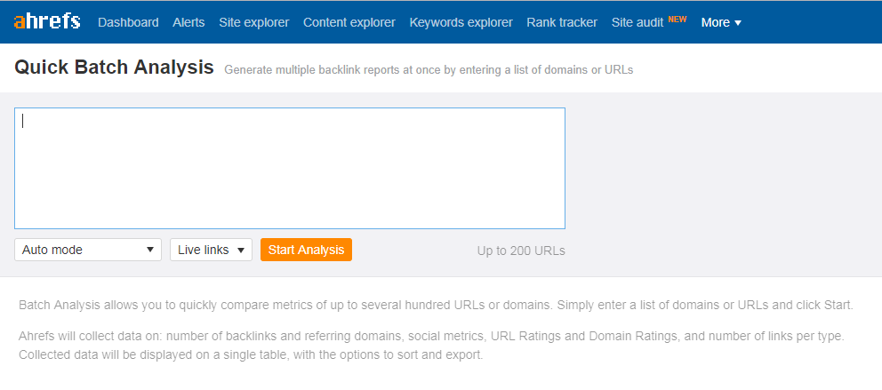 ahrefs bulk domain rank check